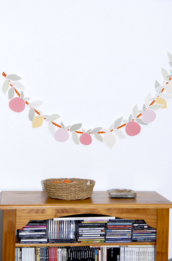 free printable garland agrumes oranges citrus 6