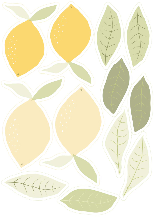 free printable garland agrumes oranges citrus.psd