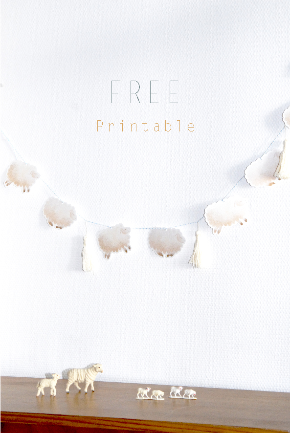 free printable guarland guirlande de moutons 1