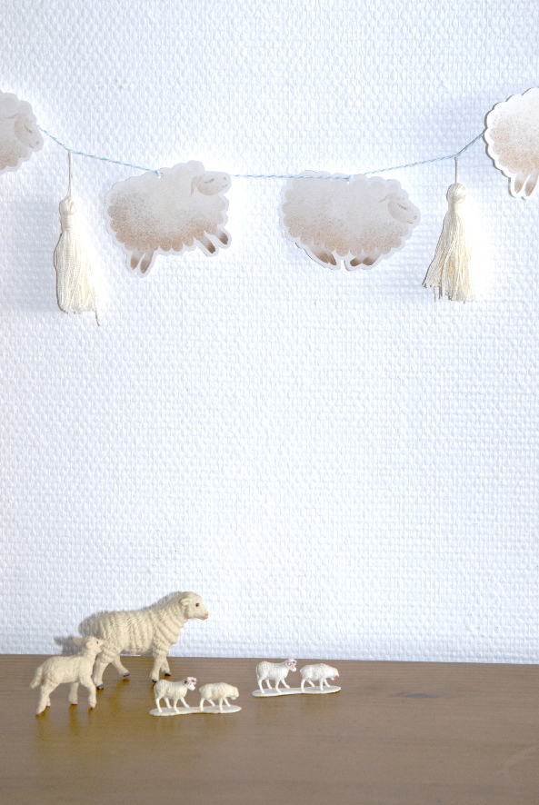 free printable guarland guirlande de moutons 5