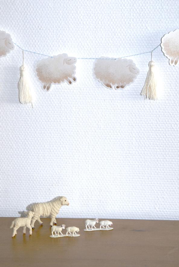 free printable guarland guirlande de moutons 5