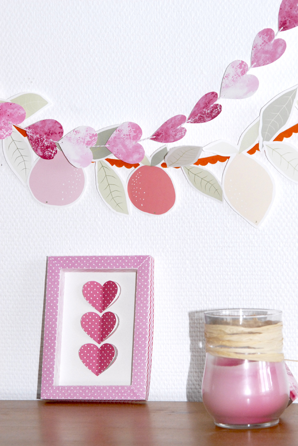 free printable heart garland 2