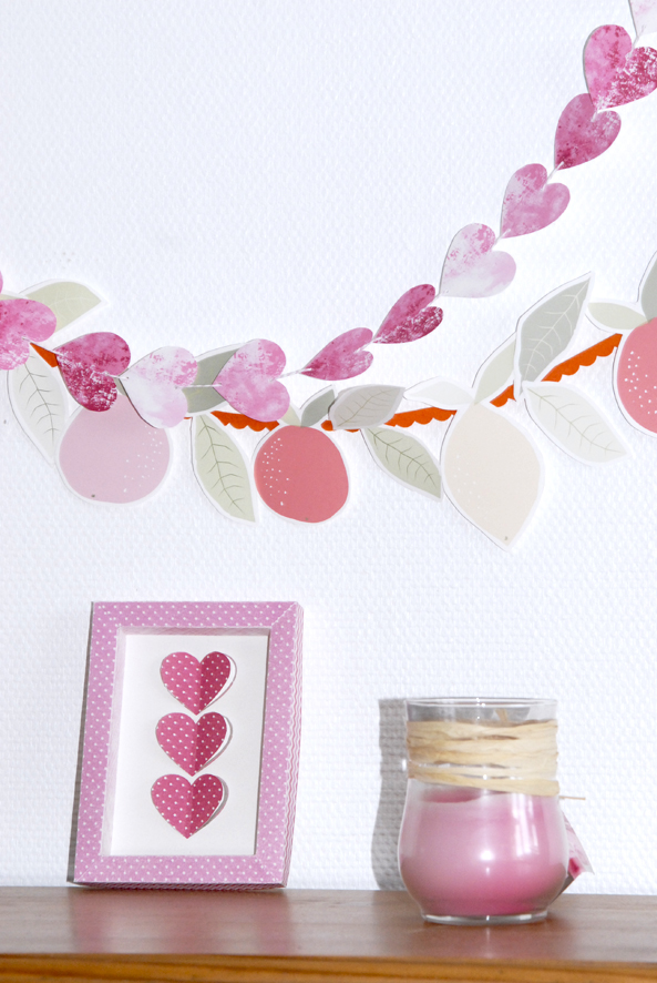 free printable heart garland 3