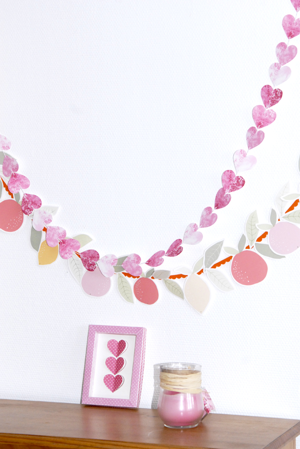 free printable heart garland 4