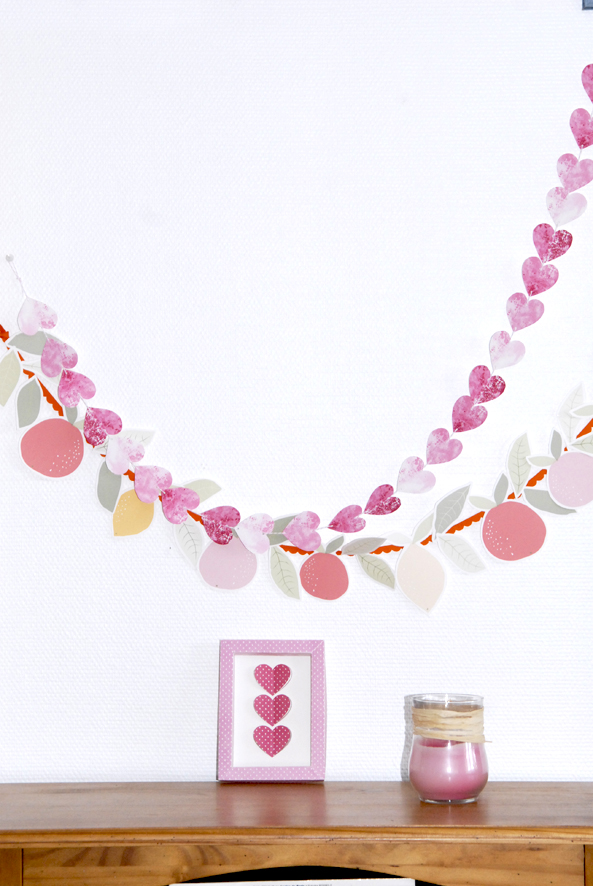 free printable heart garland 5