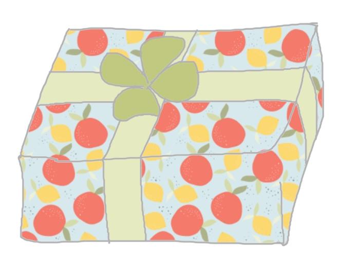 free printable paper wrap agrumes illustration