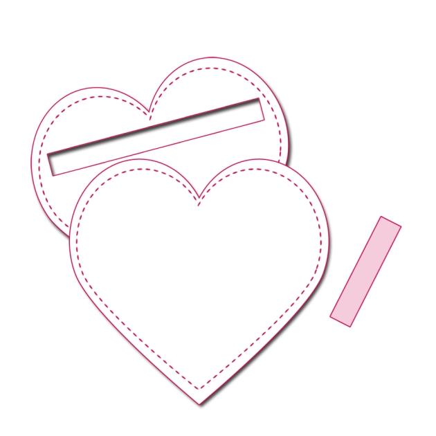 free printable pattern heart purse