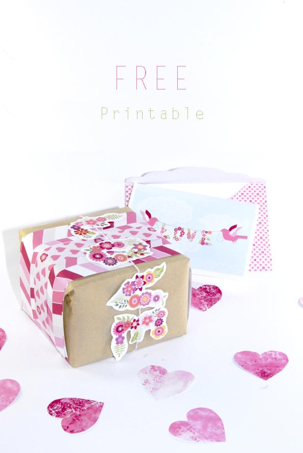 free printable valentine paper wrap 4