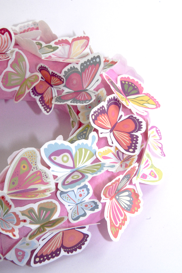 free printalble butterfly wreath 3