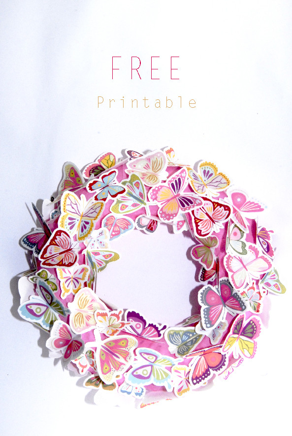 free printalble butterfly wreath 5