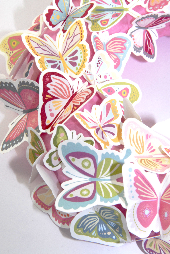 free printalble butterfly wreath 8