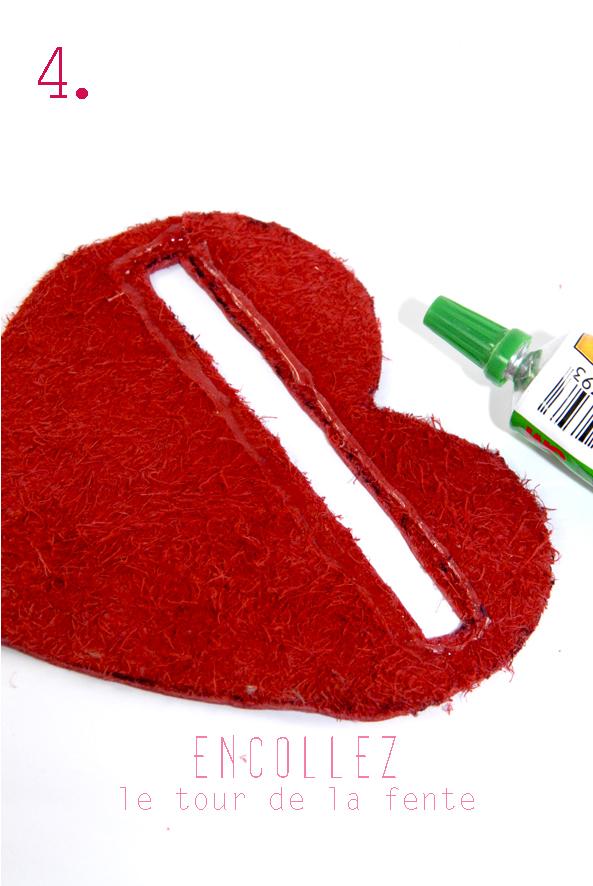 tuto porte monaie coeur en cuir rouge 4