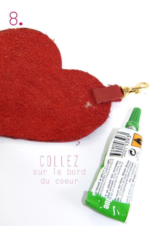 tuto porte monaie coeur en cuir rouge 8