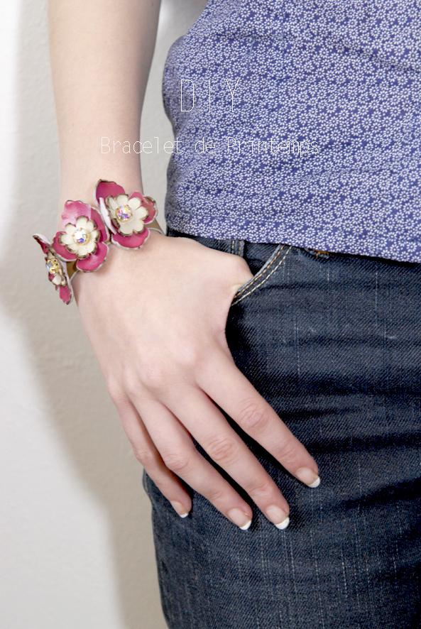 DIY bracelet à fleurs en cuir 5