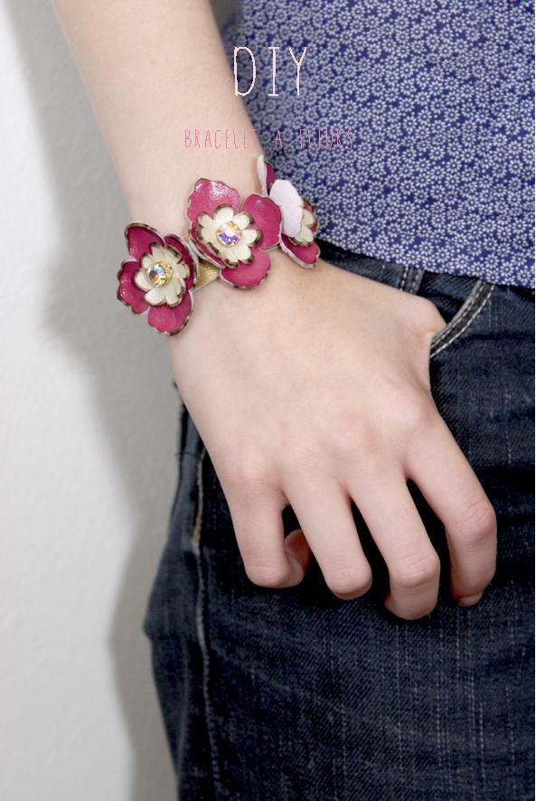 DIY bracelet à fleurs en cuir 6