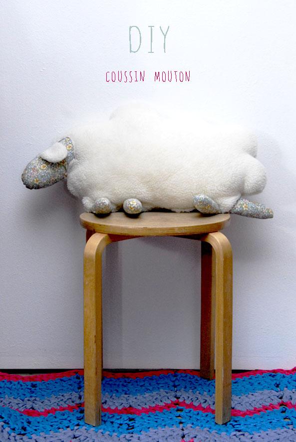 DIY coussin mouton et liberty