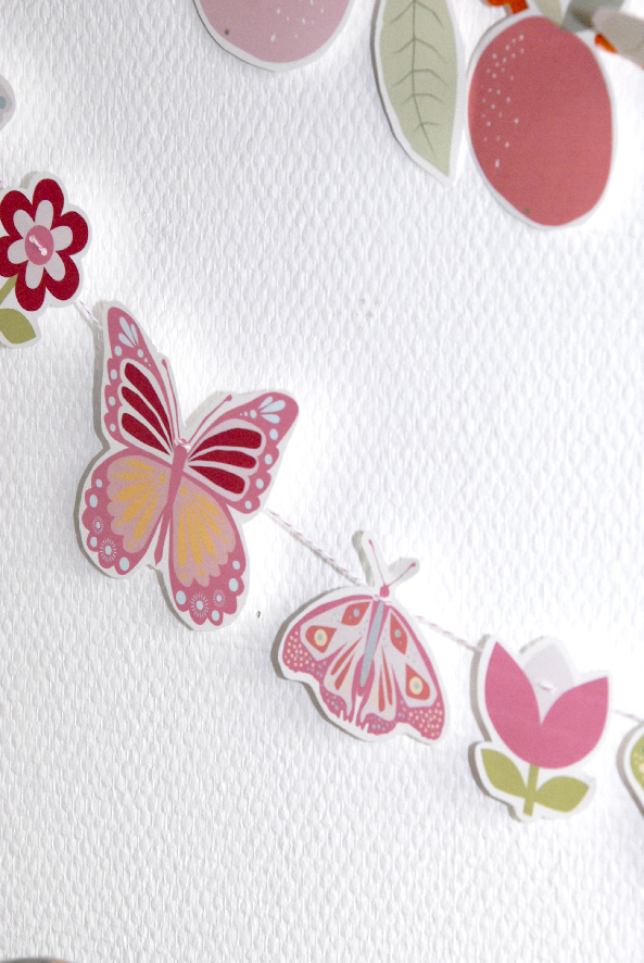 free printable buterfly banner 1