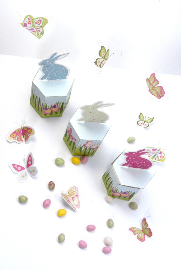 gratuit boite de Paques à imprimer free printable easter box 1