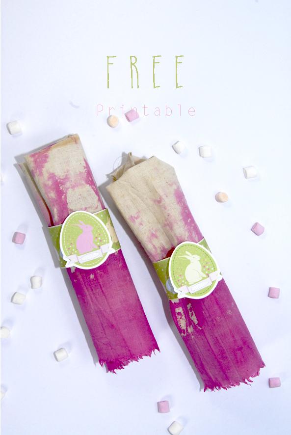 gratuit rond de serviette de pâque à imprimer free printable easter décoration 1