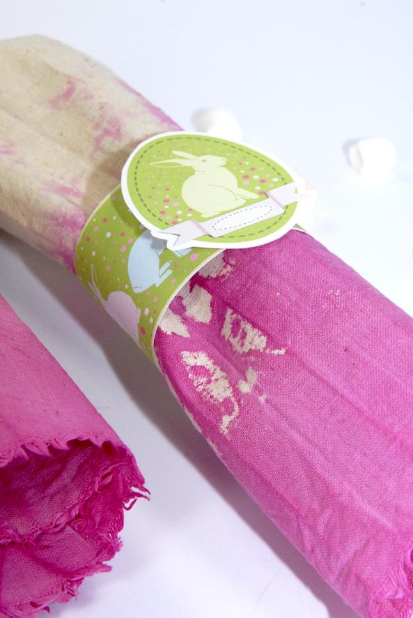 gratuit rond de serviette de pâque à imprimer free printable easter décoration 4