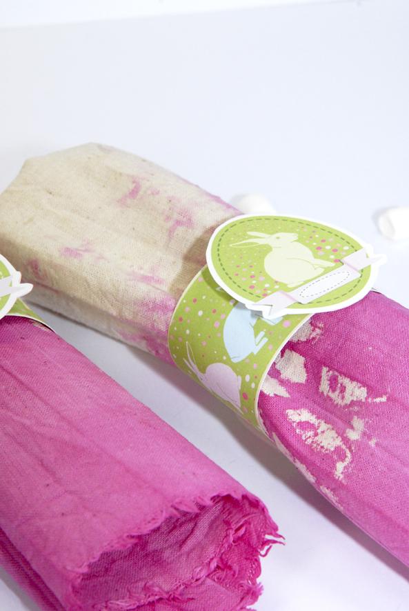 D co de table de p ques les ronds de serviettes dans mon bocal - Les ronds de serviette ...