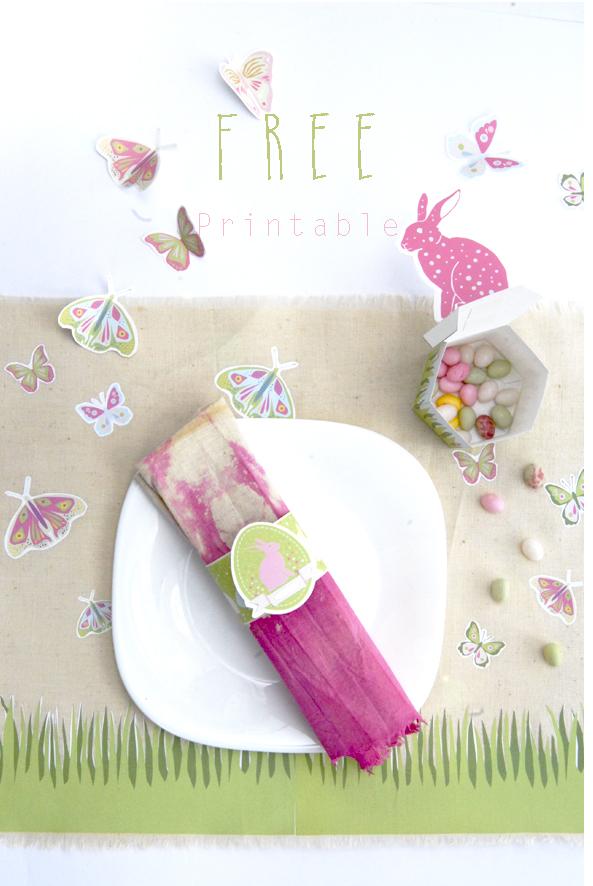 gratuit set de table pour pâques à imprimer free printable easter decoration 4