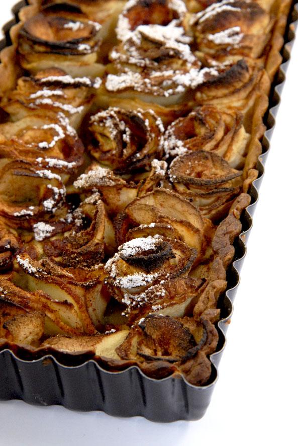 recette tarte aux pommes en forme de roses 2