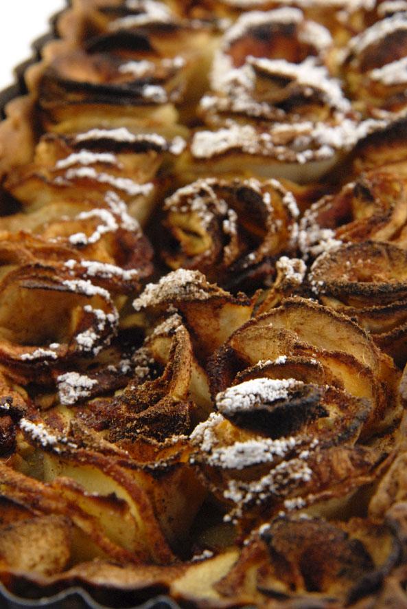 recette tarte aux pommes en forme de roses 3