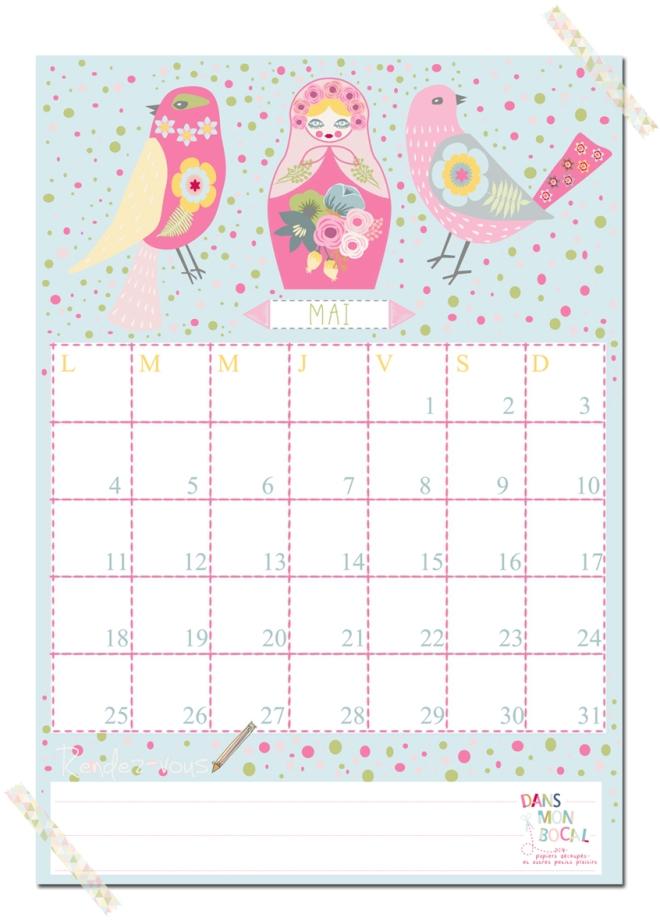 free printable calendar 2014 2015 mai