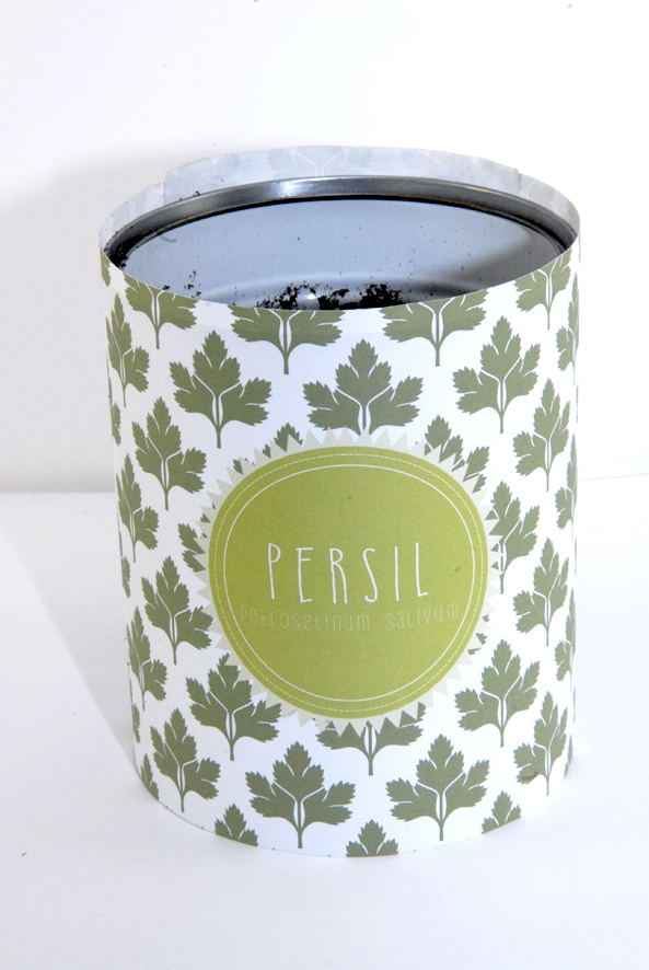 Pot boite de concerve pour aromates persil
