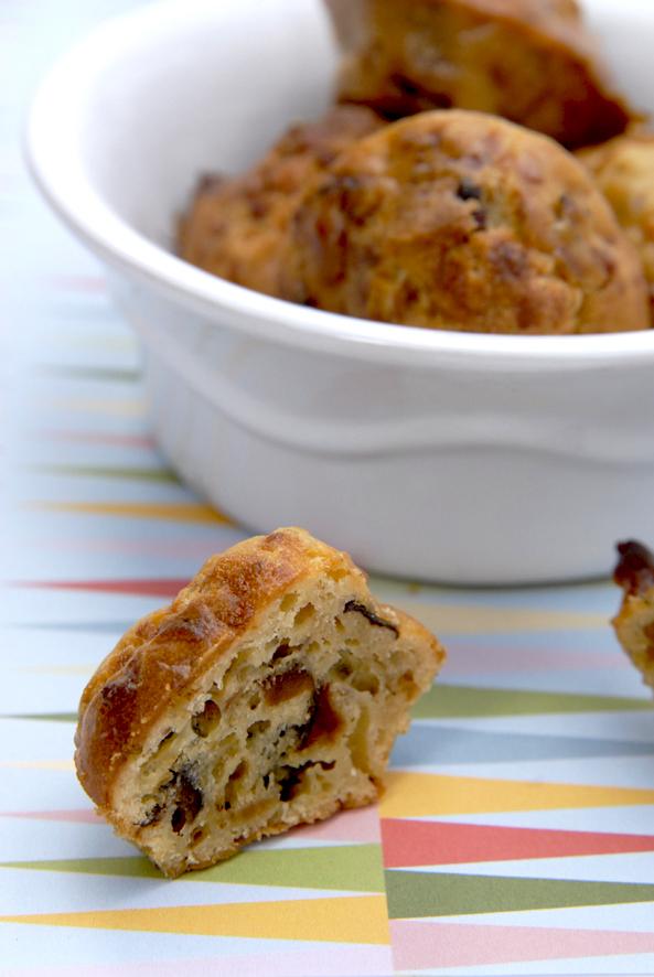 recette mini cake salé aux lardon et aux pruneaux 1