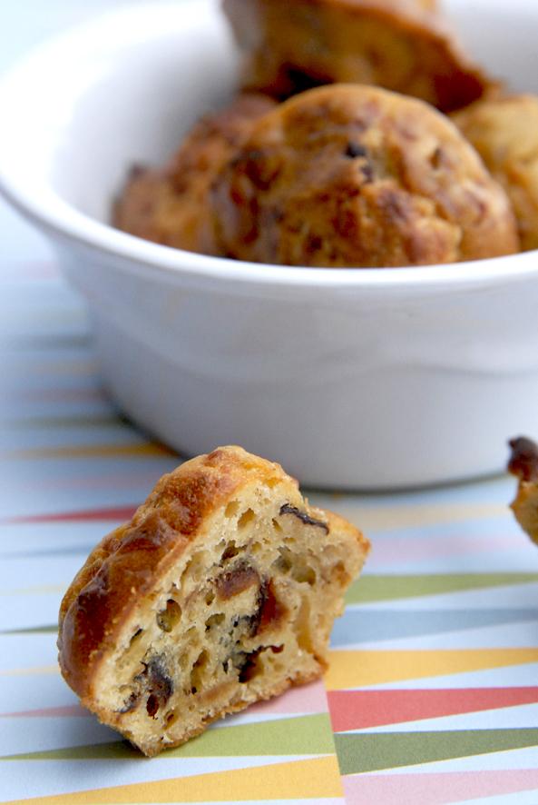 recette mini cake salé aux lardon et aux pruneaux 2