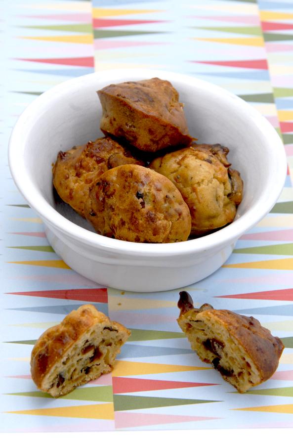 recette mini cake salé aux lardon et aux pruneaux 3