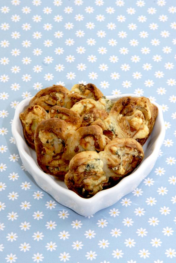 recette palmiers salés roquefort noix 1