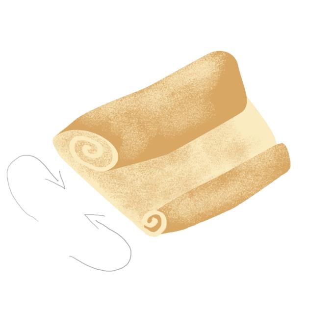 rouler la pâte feuilletée pour faire des palmiers