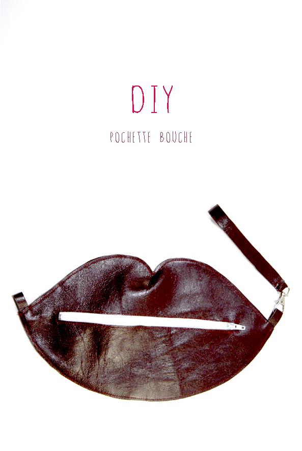 DIY pochette bouche en cuir