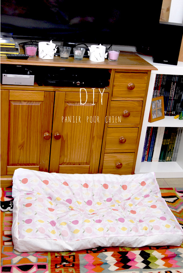 DIY une housse pour panier de chien 1