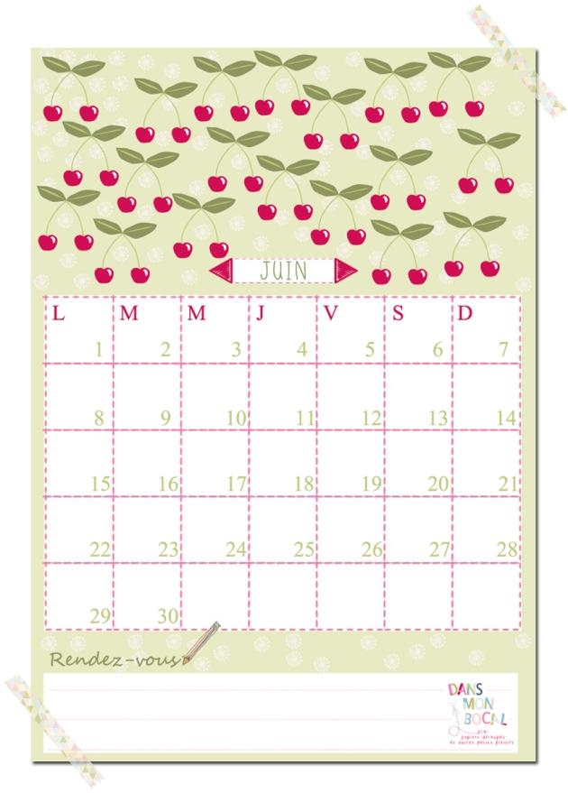 free printable calendar 2014 2015 juin