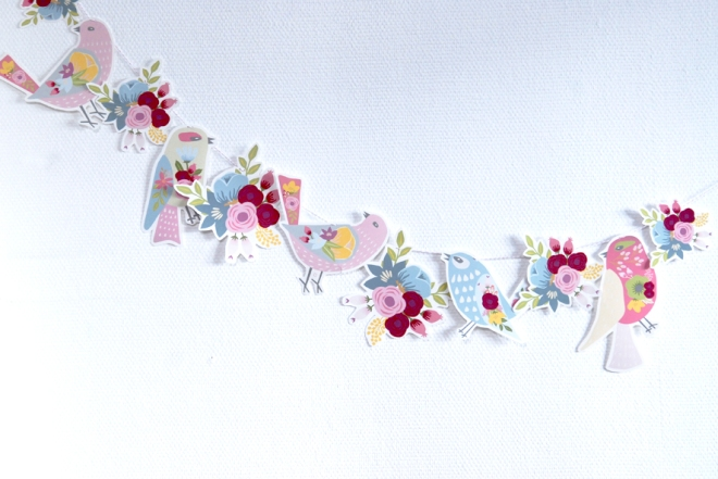 gratuit à imprimer guirlande oiseaux bouquet de fleur free printable bunting birds 5