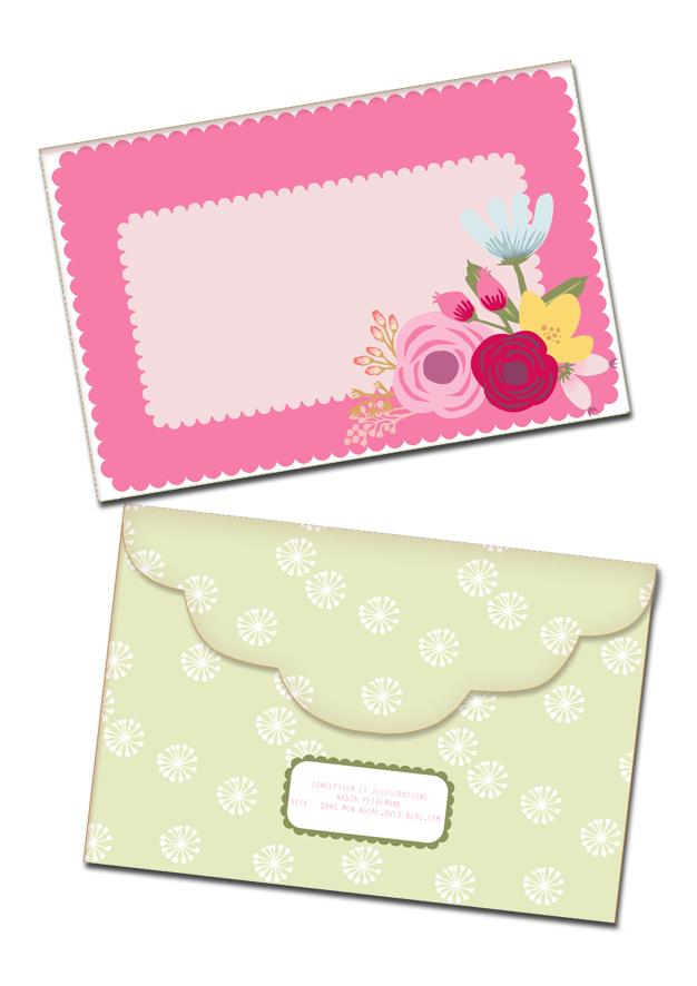 gratuit à imprimer enveloppe bouquet de fleur