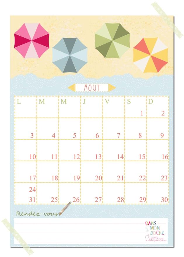free printable calendar 2014 2015 aout