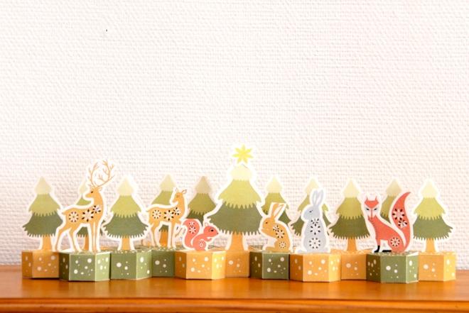 free pritable advent calendar gratuit calendrier de l'avent à imprimer 5