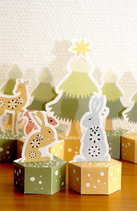 free pritable advent calendar gratuit calendrier de l'avent à imprimer lapins