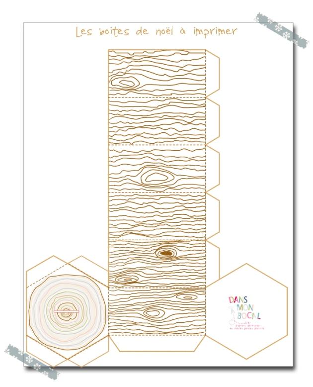 free printable christmas box gratuit boite de noël à colorier