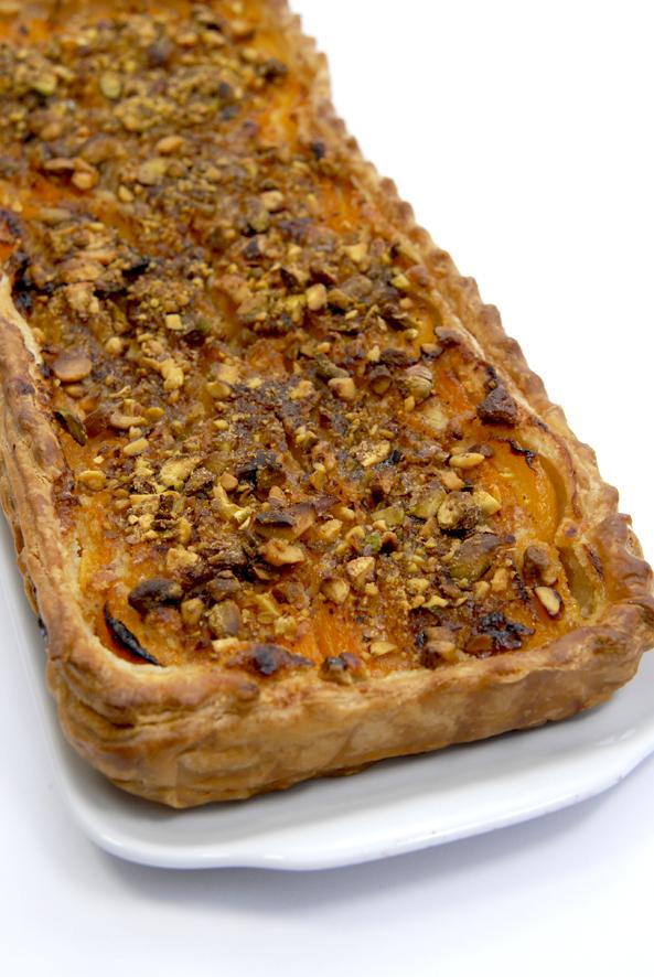 recette tarte aux abricots et aux pistaches 4