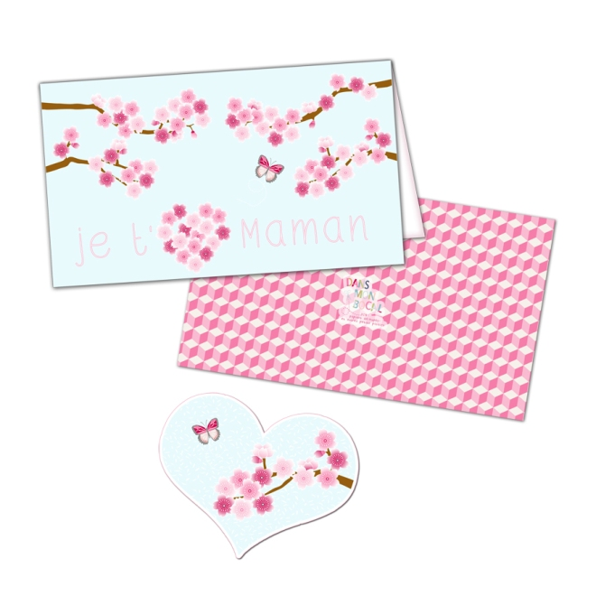 free printable mother day card gratuit carte fête des mères