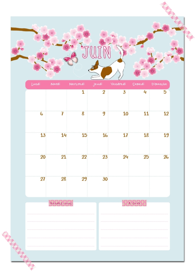 Calendriers mensuels juin 2016 imprimer gratuit C 39 est