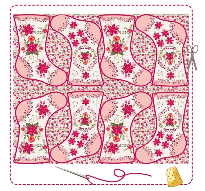 bottes-de-noel-kit-a-coudre-motif-poinsettia-bordure-mini-pompon-6