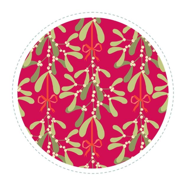 motif-gui-bouquet-fond-rouge