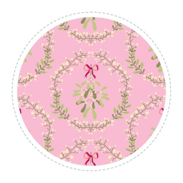 motif-gui-couronne-fond-rose